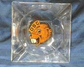 Oregon State College Beavers Mascot Retro Glass Ashtray Vintage OSU OSC Souvenir