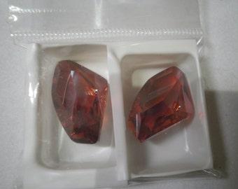 Swarovski Crystal Galatic Pendants, Red Magma