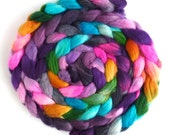 Superwash Merino/ Nylon Roving (Top) - Handpainted Spinning or Felting Fiber, Marin's Pencils, 4 ounces
