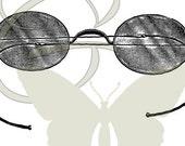 Eye Glasses Digital Vintage Image Transfers Printable Illustration Clip Art Download Iron On Graphic 232