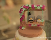 penguin with swing Wedding Cake Topper