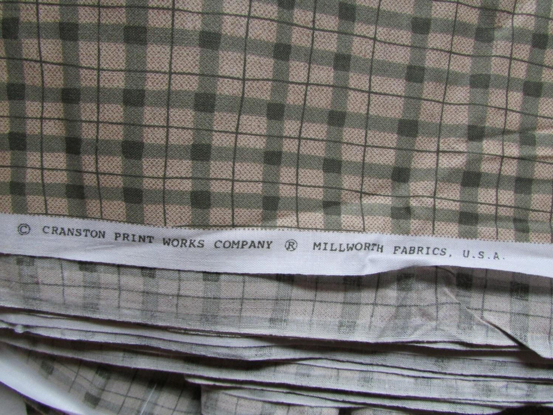 cotton fabric quilting material cranston print works sage