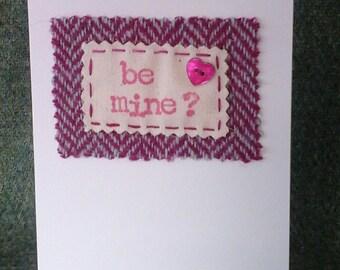 Harris Tweed Valentine's Card