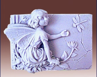 Rowena - The fairy of Fame and Joy- Detail of high relief sculpture - Silicone Soap/plaster/clay Mold - buy from original designer and maker