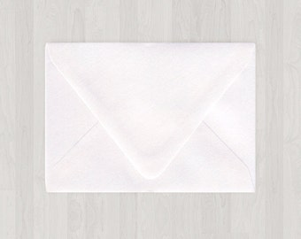 10 A2 Envelopes - Euro Flap - White - DIY Invitations and Response Cards - Envelopes for Weddings & Other Events