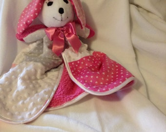 Baby Girl cuddle soft Bunny Blanket