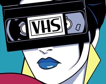 VHS Grrrl 11x17 Print