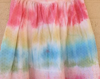 tie dye skirt size 10 hippie skirt cotton and so soft