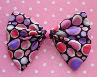 SALE Pink and Purple spotty Hair bow Clip