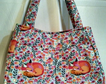 SALE: Use 15Off To get 15% off, Tula Pink Sleeping Fox Swoon Ethel Totebag