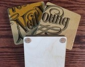 Custom Order Janesanne NEIL YOUNG album cover coasters, record bowl and Baltic birch holder