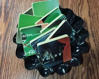 Lynyrd Skynyrd recycled One More From The Road album cover coasters with wacky bowl