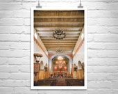Mission San Juan Bautista, California Spanish Missions, Church Art, Christian, Architecture Art, Fine Art Photography, Wall Art Picture