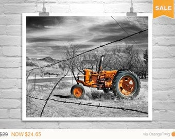Sale 15% Red Tractor, Art Print, Nogales, Farm Art, Farm Photograph, Rural Art, Rustic Picture, Countryside, Back Roads, 8 x 10, 11 x 14, 16
