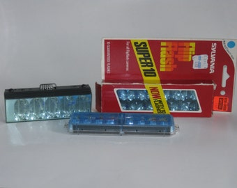 2 Vintage Flip Flash Bars and 1 Flash Bar