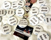 Pronoun Button Pins