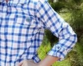 Florida Gator Plaid Flannel Boyfriend Shirt, Flannel, Game Day, Gator flannel, Florida Gators
