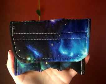 Padded Essential Oil Pouch for Your Bag- Cosmic Print - Small