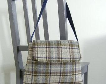 Sale* Shoulder bag, Tartan bag, Unique woollen shoulder bag,  Gifts for her, Tartan wool shoulder bag with waterproof lining,
