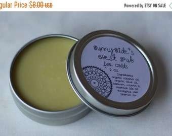 Organic Chest Rub for Coughs and Colds, 2 oz with Eucalyptus and Fir Essential Oils