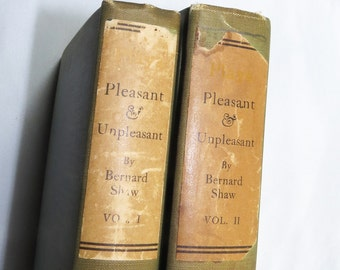 Pleasant and Unpleasant 2 Volumes Geoge Bernard Shaw Plays 1912