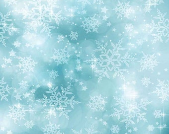 Shiny Snowflake 5ft x 5ft Backdrop Computer Printed Photography Background L-889