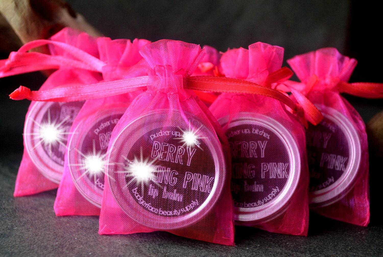 lip balm baby shower favors unique baby shower favors pink