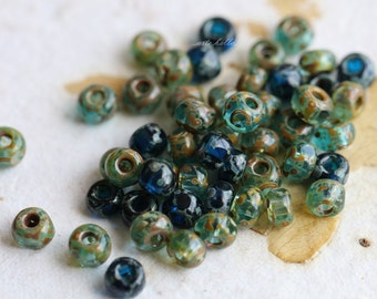 SEED BEAD MIX No. 5145 .. 50 Picasso Czech Glass Cut Seed Bead Mix Size 6/0 (5145-50)