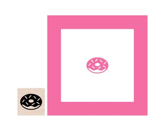 Mini Donut Rubber Stamp