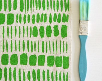Brushstokes - screen printed fabric - basic colours