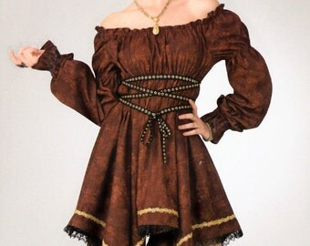 Fairy Dress Velvet Gypsy Dress Faerie Pixie Gipsy Fantasy Renaissance Wench Witch Pagan