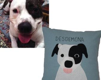 Pet Pillow, Custom Pet Pillow, Cat Pillow, Pet Portrait, Dog Pillow, Custom Dog Pillow, Pet Pillows, Custom Pets, Pet