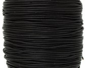 2 Meters (6.56 Feet Approx.) Genuine Leather Cord - Round - Black 1mm (23123)