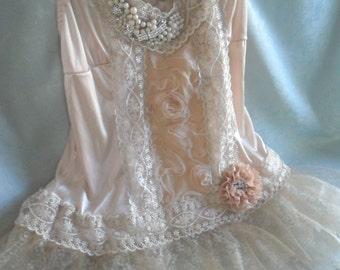 TUNIC Top Tank Cami Whimsical Boho Fairy Princess Ethereal Dreamy Romantic - Shades of Ivory
