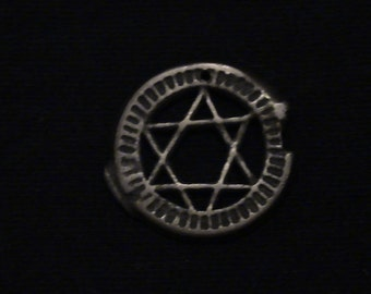 MOROCCO  - cut coin jewelry -  Star of David - 1870