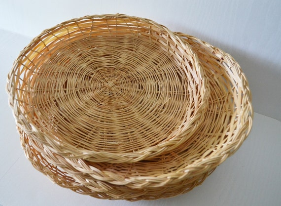 wicker paper plate holders rv decor camping by theoceanblueco. Black Bedroom Furniture Sets. Home Design Ideas