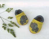 Yellow Elephant Soft Soled Leather Shoes Baby and Toddler