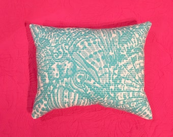New Pillow made with Lilly Pulitzer Shorely Blue Sea Cups fabric