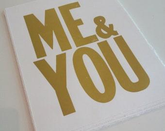 Me & You, Letterpress print