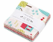 """CHARM PACK 2.5"""" Mini Charm sized squares Lil Red Riding Hood by Moda"""