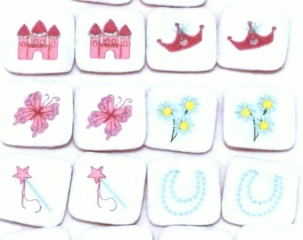 Princess Memory Concentration Game set includes 9 matches 18 cards #3891