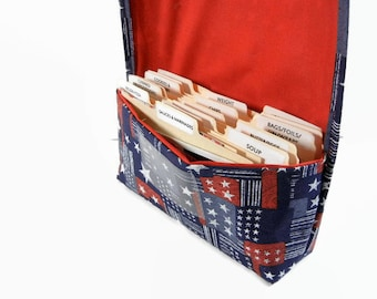 Coupon Organizer Holder Patriotic Stars with Red Lining