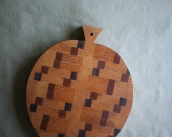 Vintage Butcherblock Board Cheeseboard Cutting Board Serving Tray Apple Shaped
