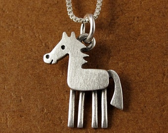 Tiny horse necklace / pendant