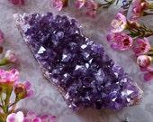 Amethyst Cluster - Amethyst Crystal - Raw Amethyst from Uruguay - Dark Purple Amethyst - Deep Purple Mineral Specimen