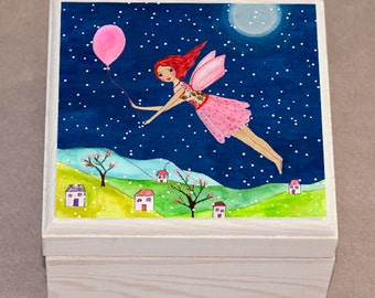 Jewelry Box - Wooden Jewelry Box - Folk Art Jewelry Box -Trinket Box - Handmade Jewelry Box - Fairytale Gift - Hand Painted Jewelry Box