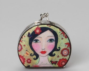 Compact Mirror, Dark Haired Woman Compact Mirror