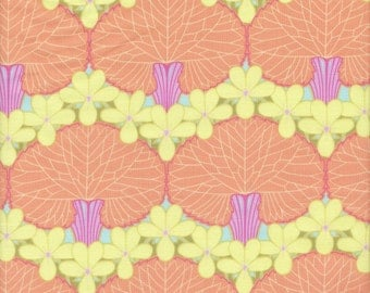 SALE - Rowan Amy Butler Midwest Modern Nouveau Trees in Tangerine - End of Bolt - 1 Yard 12 Inches Left