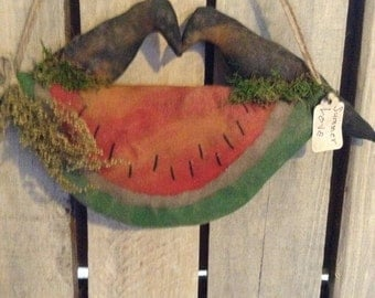 Primitive Watermelon Crow Door greeter Pattern
