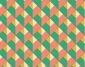Sale - 2 yards - Joel Dewberry Bungalow - Chevron JD074 Emerald